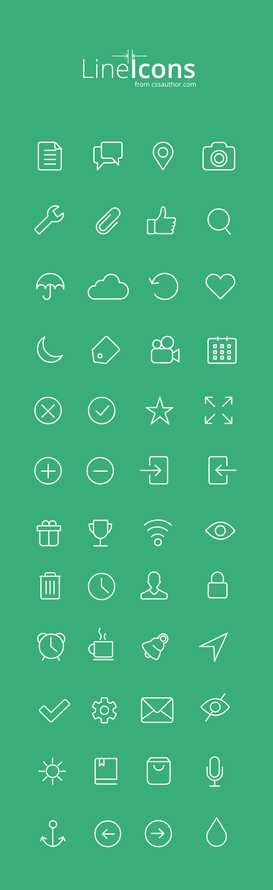 Free Line Icons for Web and UI Designs