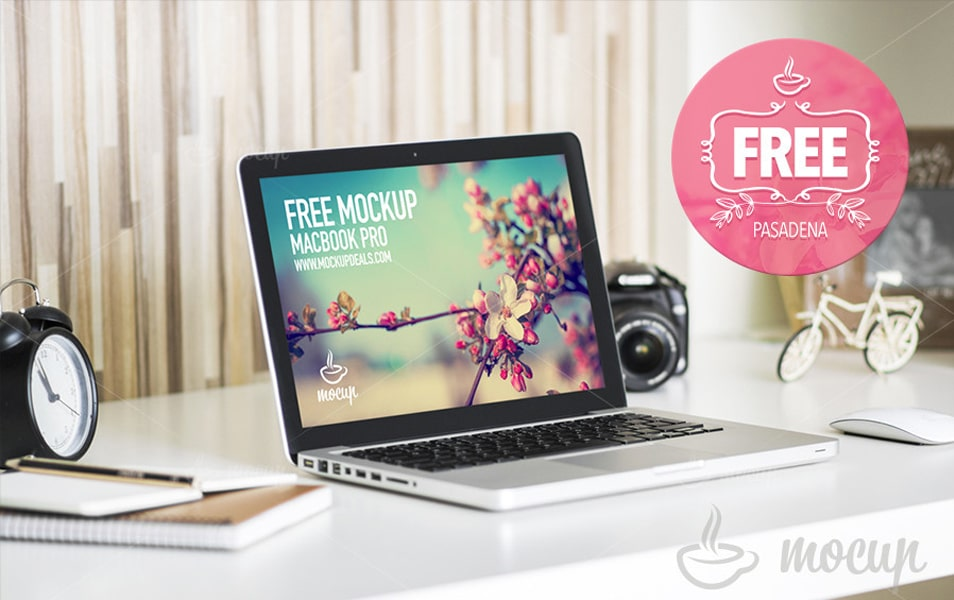 Free Mockup MacBook Pasadena