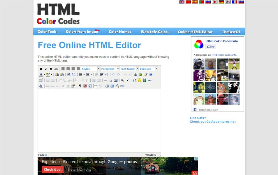 Free Online HTML Editor | HTML Color Codes