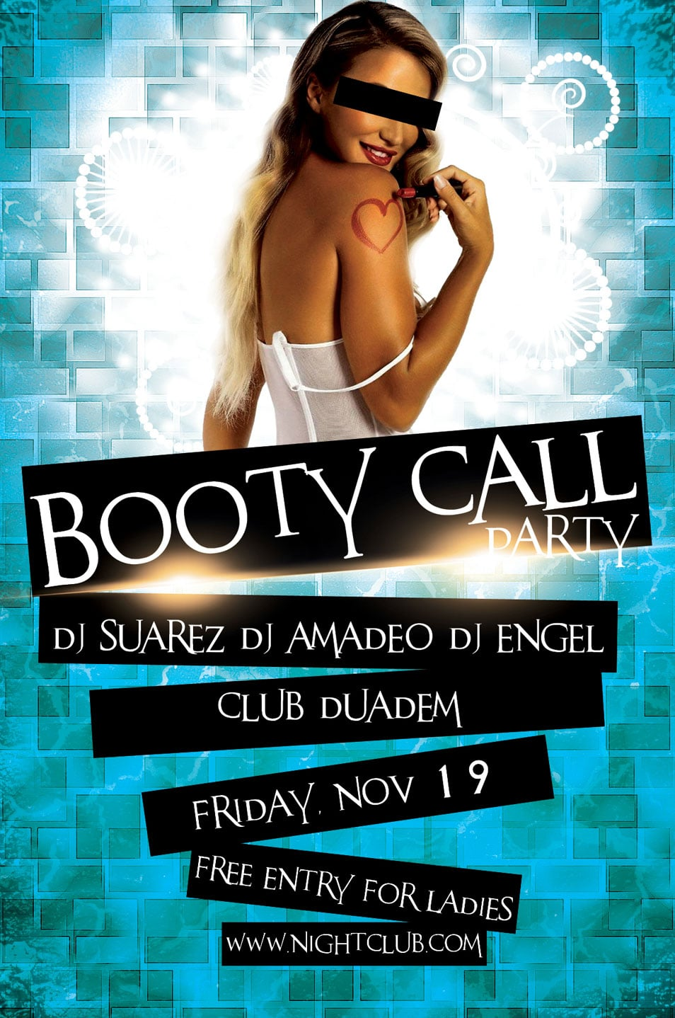 Free PSD Flyer Booty Call Party