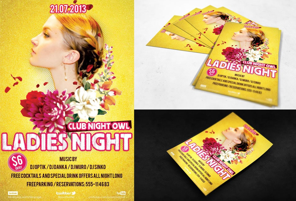 Free PSD Flyer Ladies Night