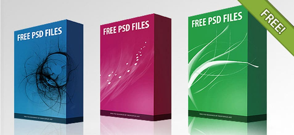 Free PSD Software Box