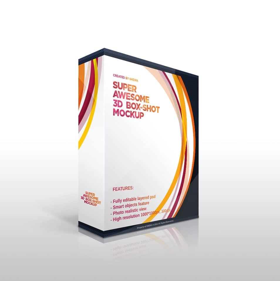 Free PSD: Software BoxSet Mockup