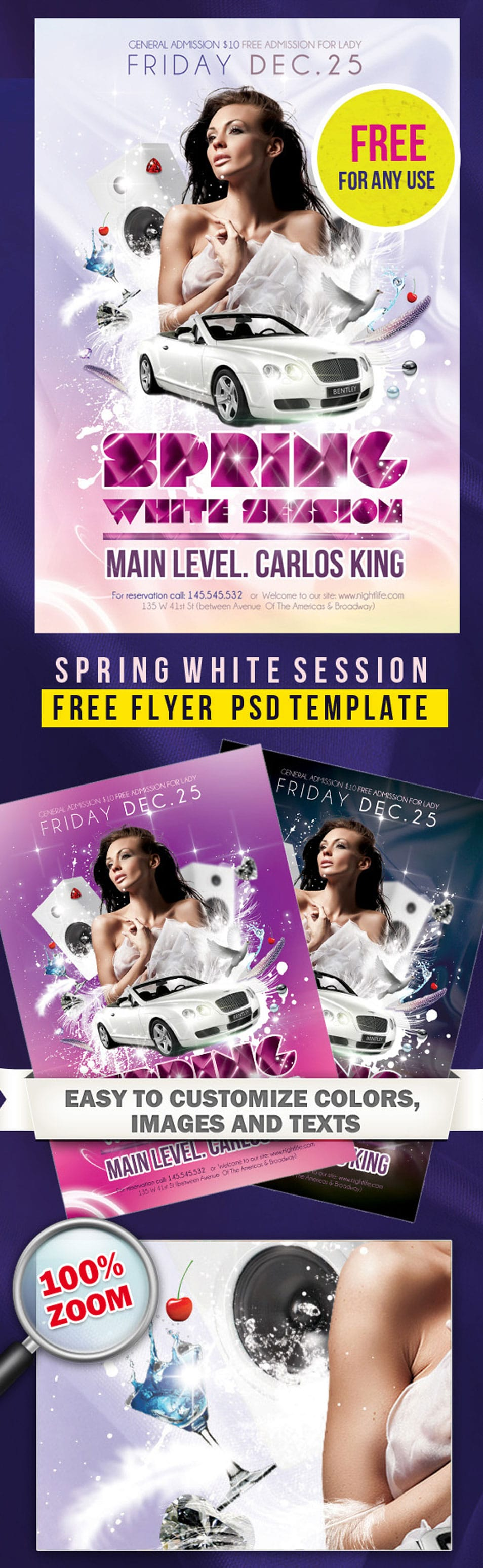 Free Party Flyer Poster PSD Template