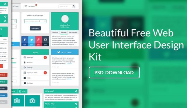 Free Web User Interface Design PSD - cssauthor.com