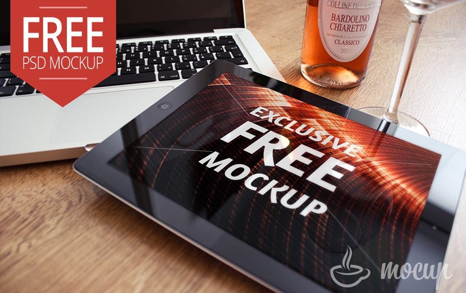 "Free iPad 2 Mockup Exclusive ""B"""