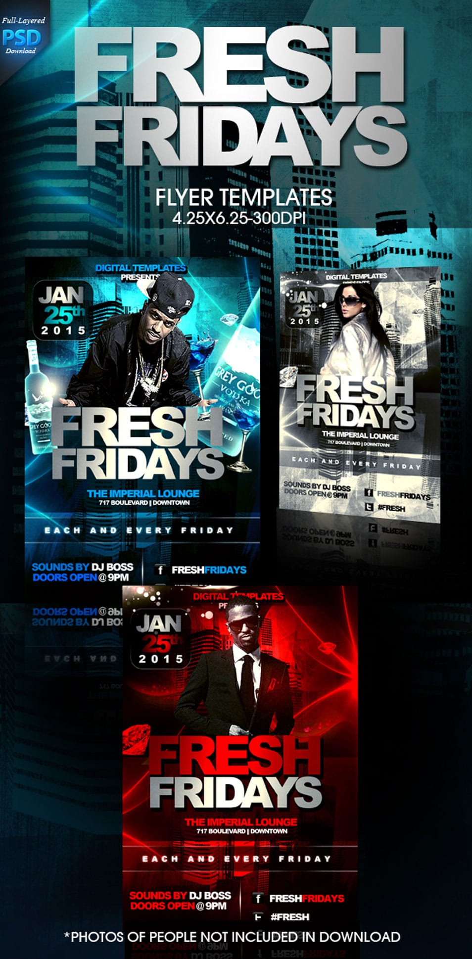 Fresh Fridays PSD Flyer Template