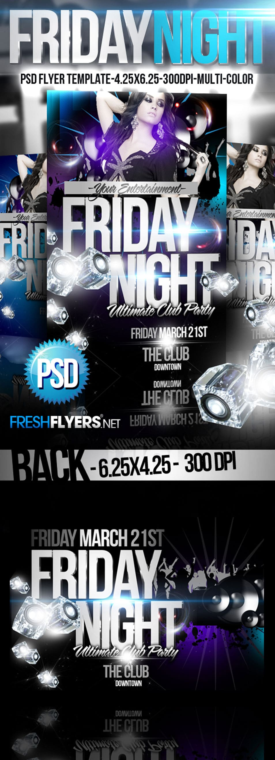 Friday Night PSD Flyer Template