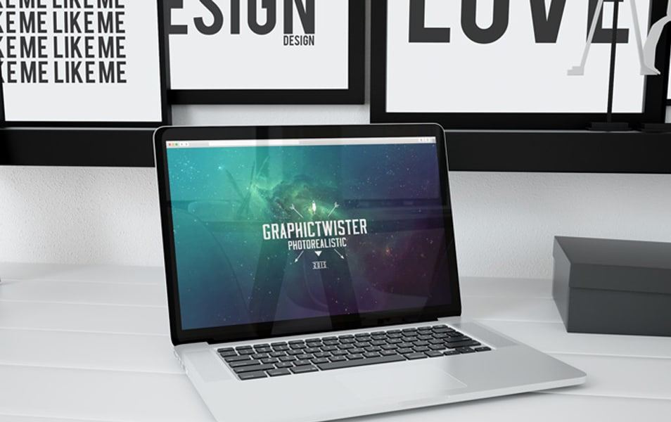 MacBook Pro Workspace mockup