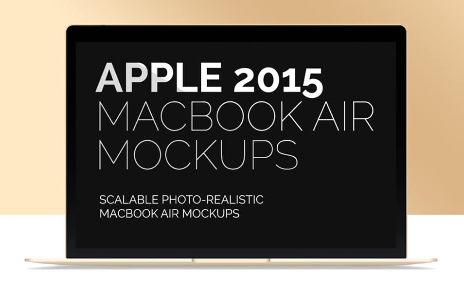 New MacBook Air 2015 Mockup
