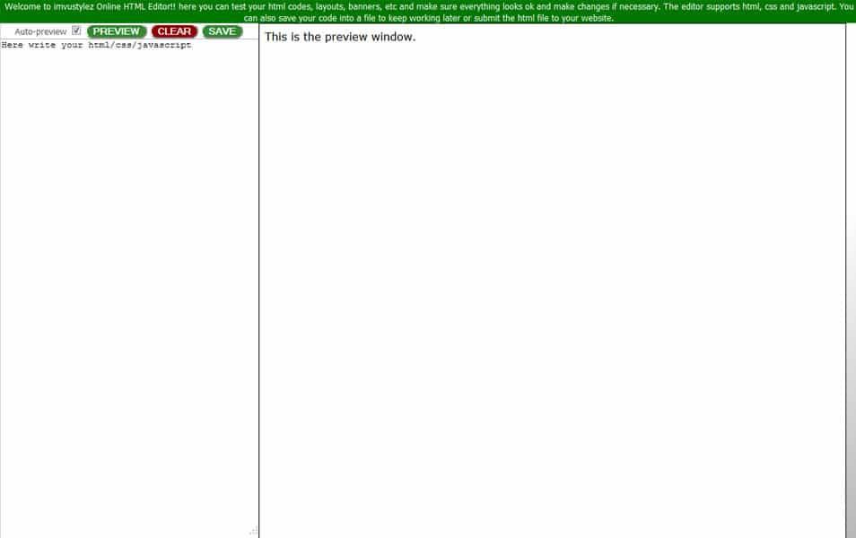 Online HTML Editor | imvustylez