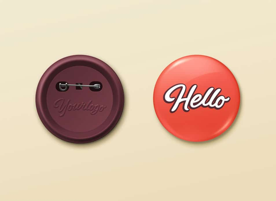 Pin Button Badge MockUp