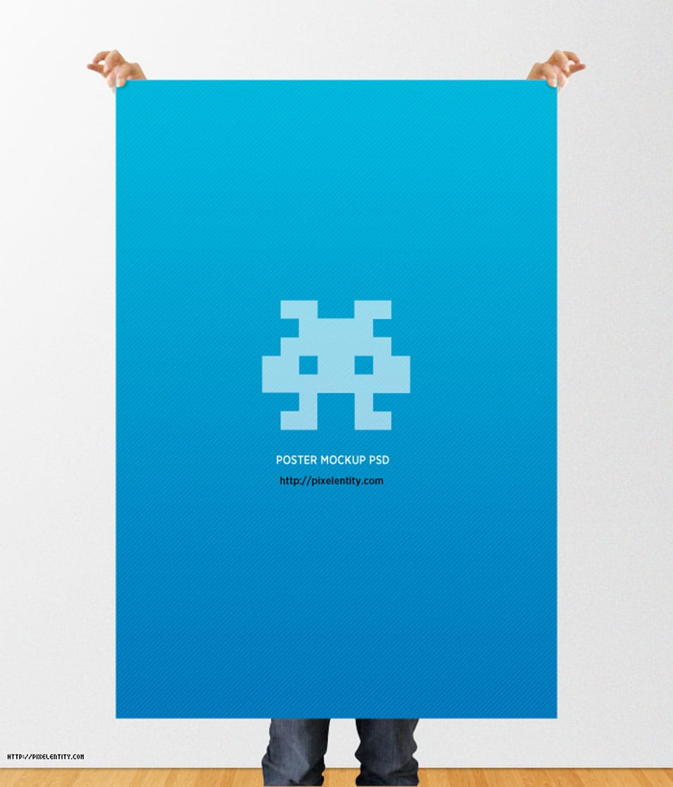 Poster Mockup Template (PSD)