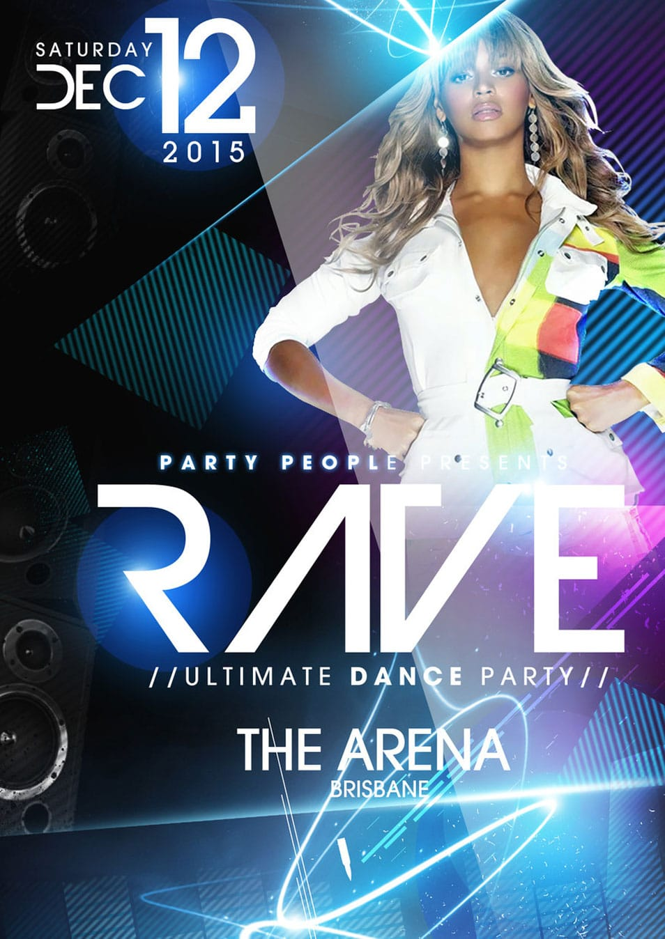Christmas Rave Flyers Rave Party Psd Flyer Template