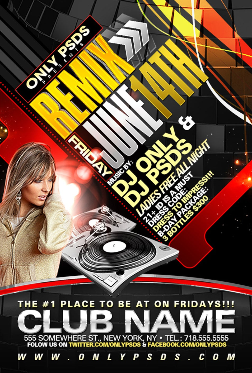 High Quality Remix PSD Flyer Template