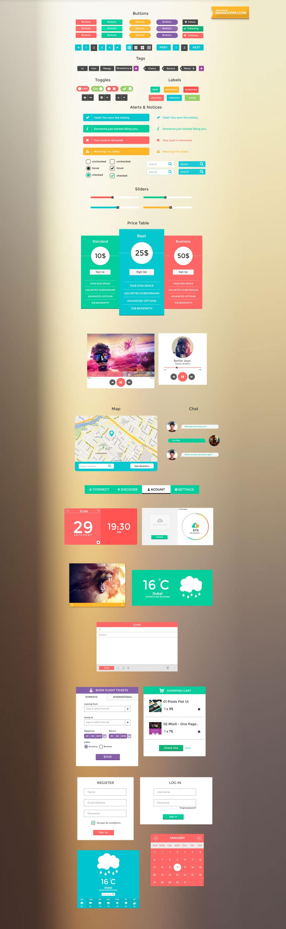 SmoothBerry Free UI Kit