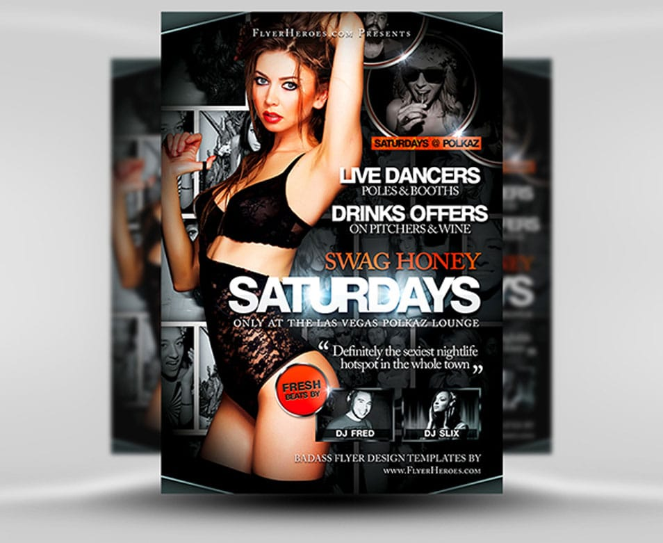 Swag Honey Saturdays Flyer Template