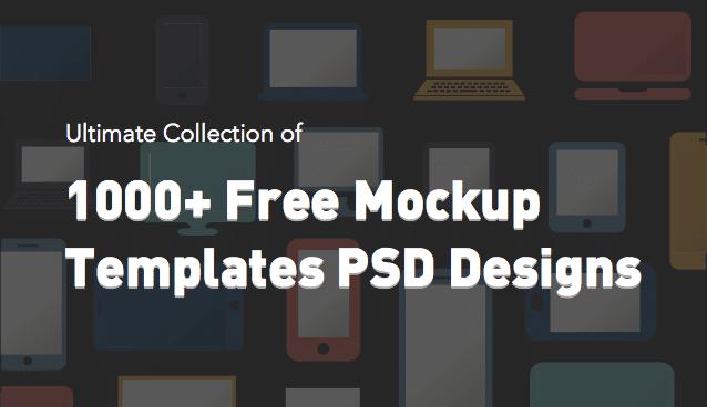 1000  free mockup templates psd designs  u00bb css author