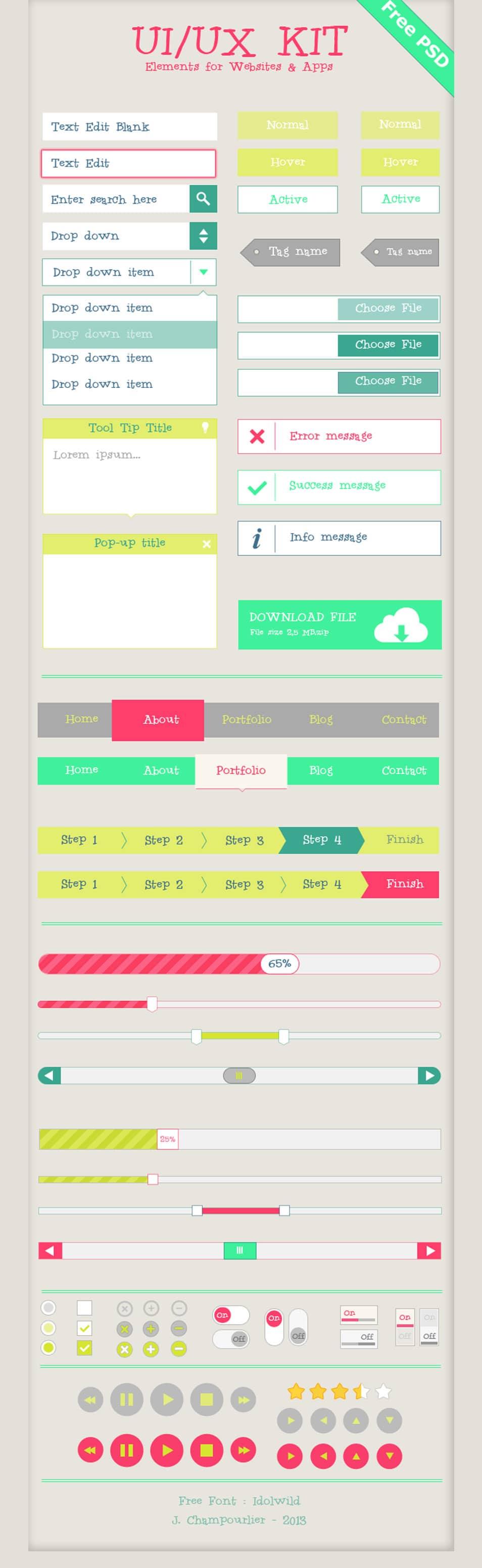 UIUX Flat Design Kit
