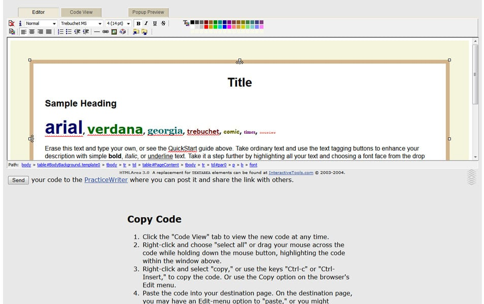 WYSIWYG HTML Auction Editor