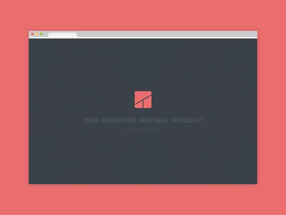 Web browser - Flat minimal mockup