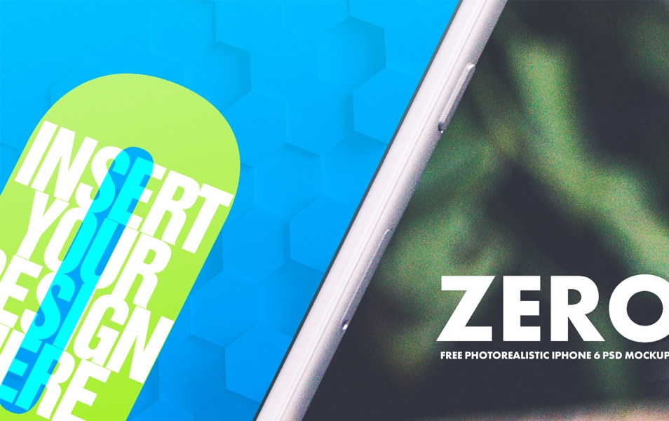 Zero – Free iPhone 6 PSD MockUps Template