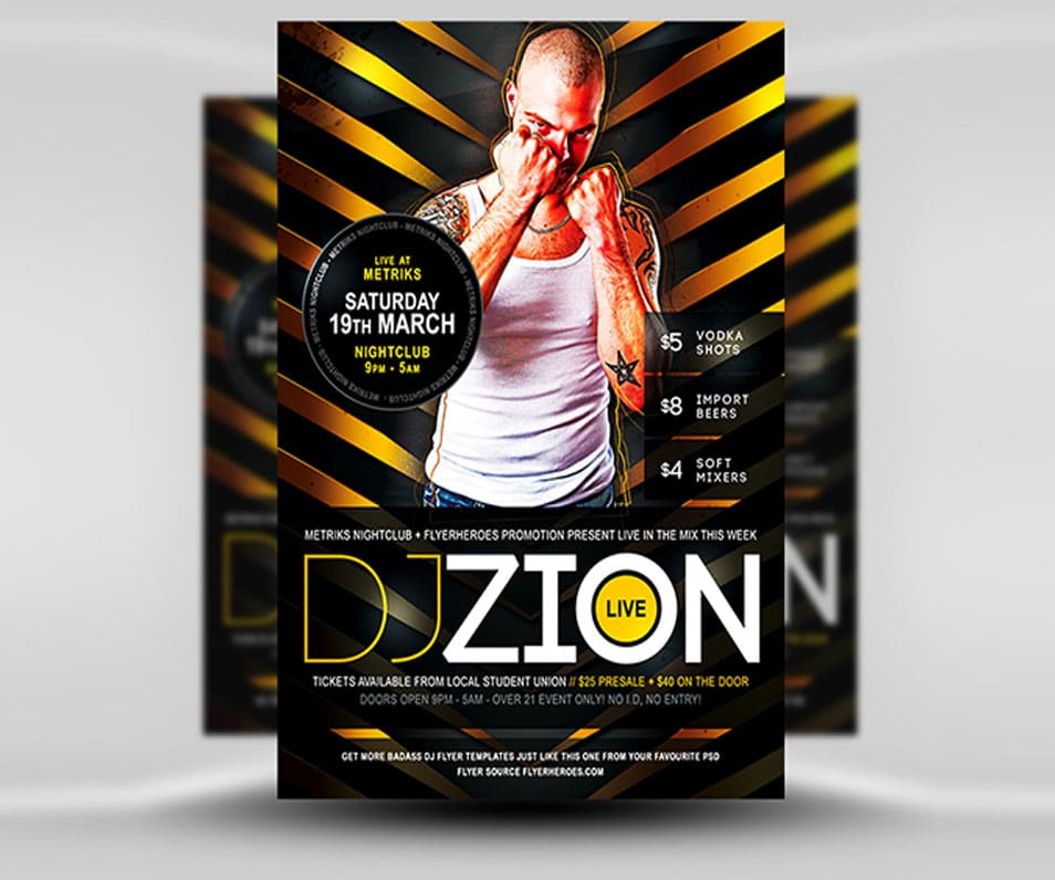 Zion Free DJ Flyer Template