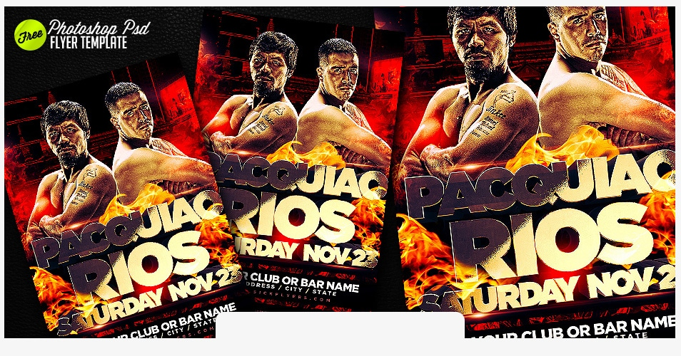 free paquiao rios flyer template