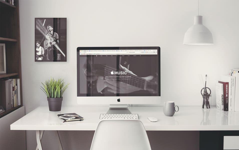 IMac Retina 5k Office MockUp
