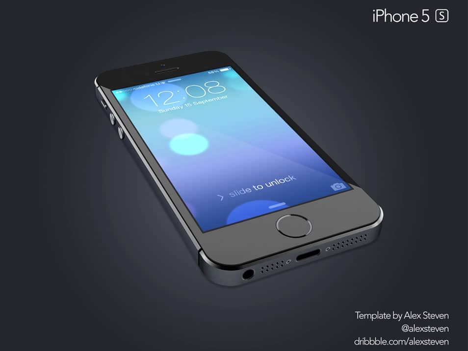 iPhone 5S PSD