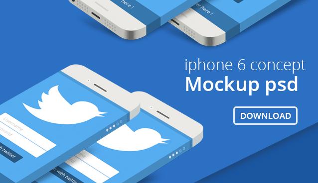 iPhone 6 Concept Mockup PSD - cssauthor.com