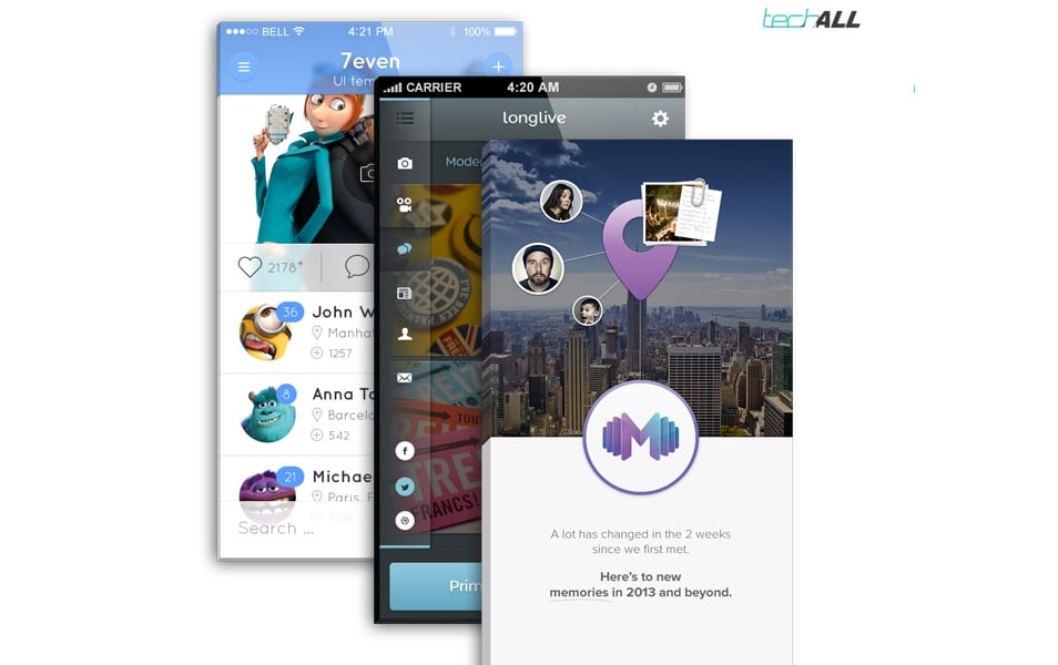iPhone App Front Screen MockUp .PSD