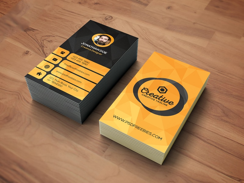 Agency Business Card Template PSD