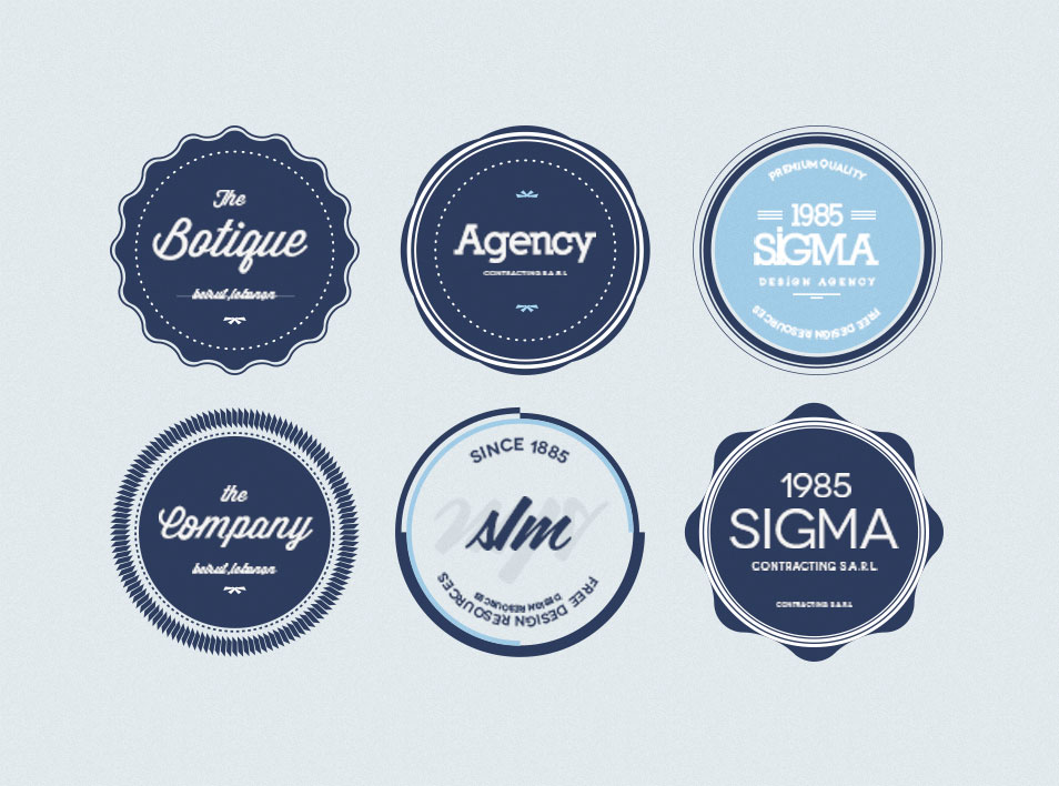 Best Free Badges Vector  Psd  Css Author