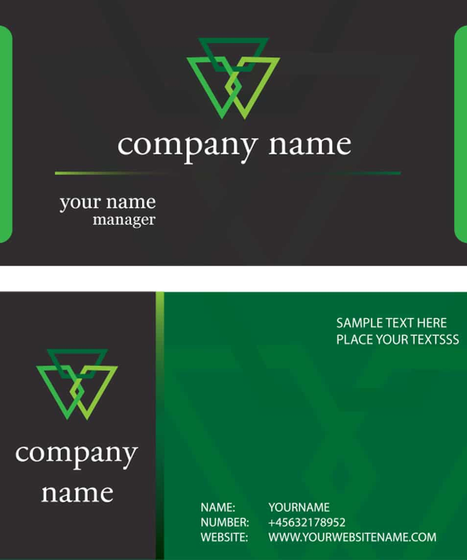 Black Green Card Template
