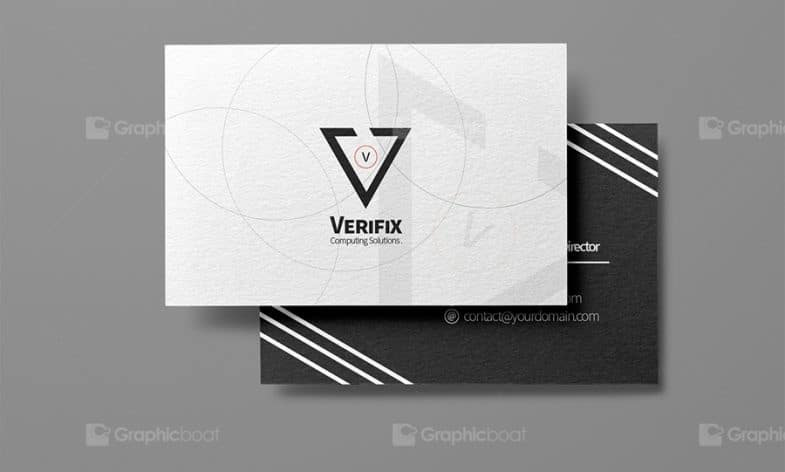 Black White Business Card PSD