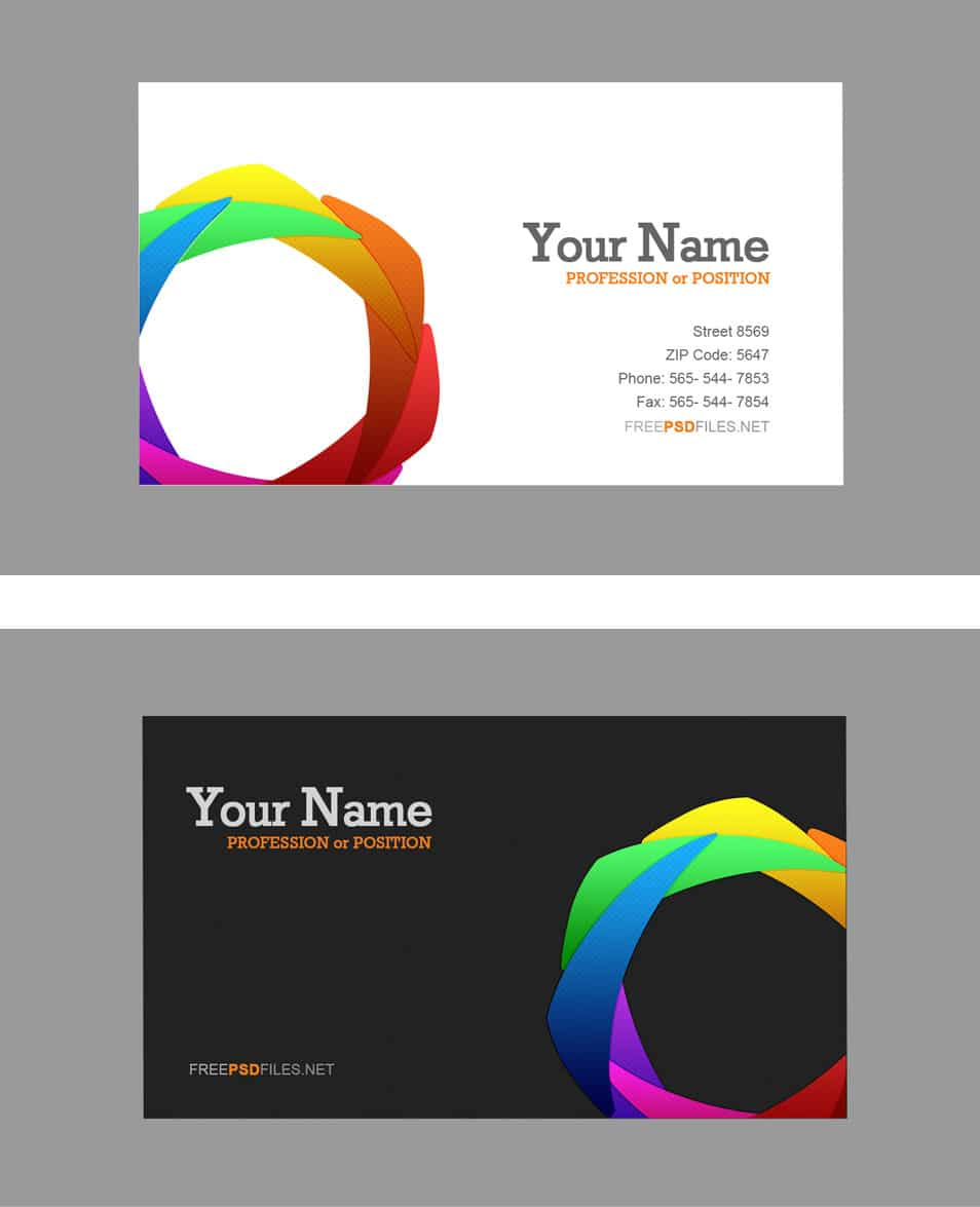 buiness card template - css 2014 100 free business cards psd