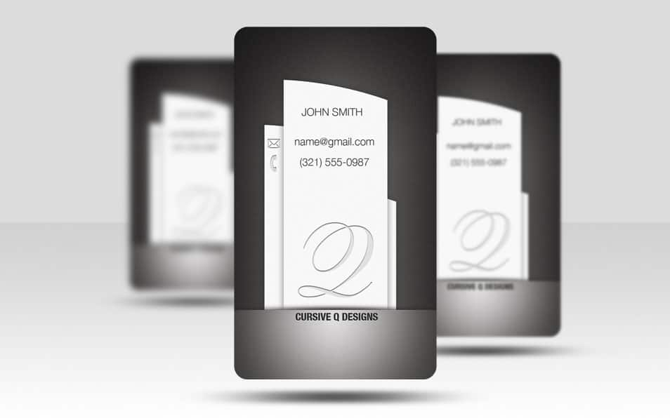 Business Card Template Pillar