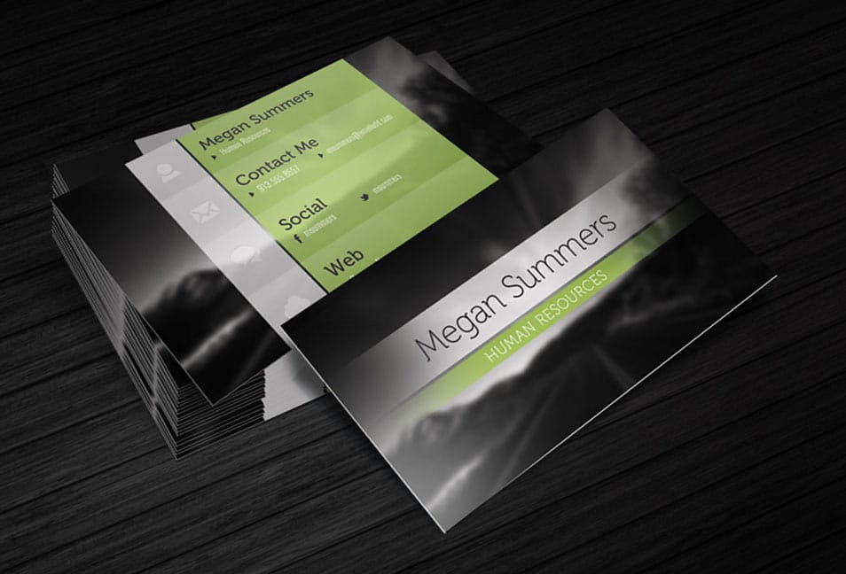 Business Card Template Simple Scene