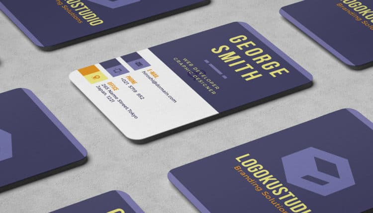 CUBE Business Card Template PSD