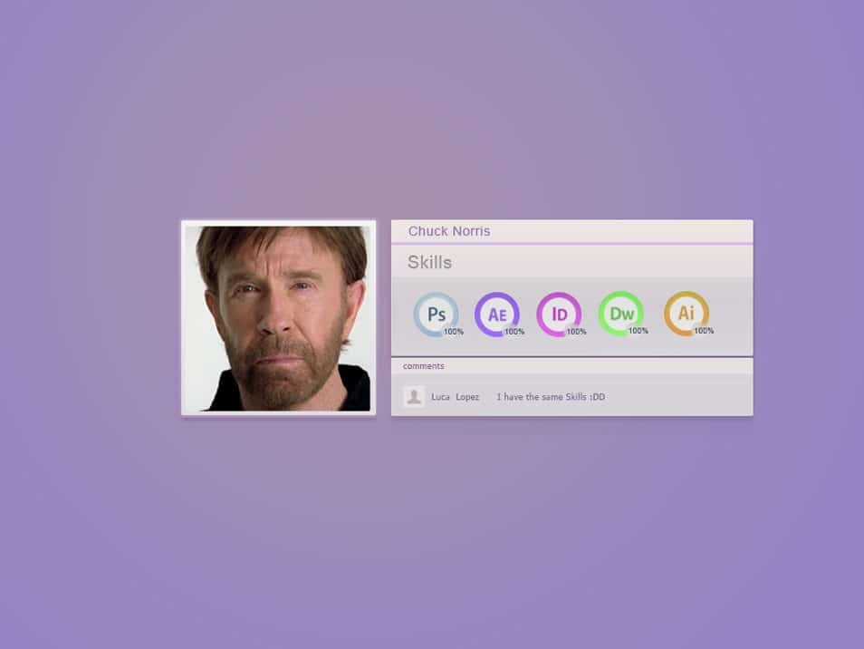Chuck Norris Skills [PSD]