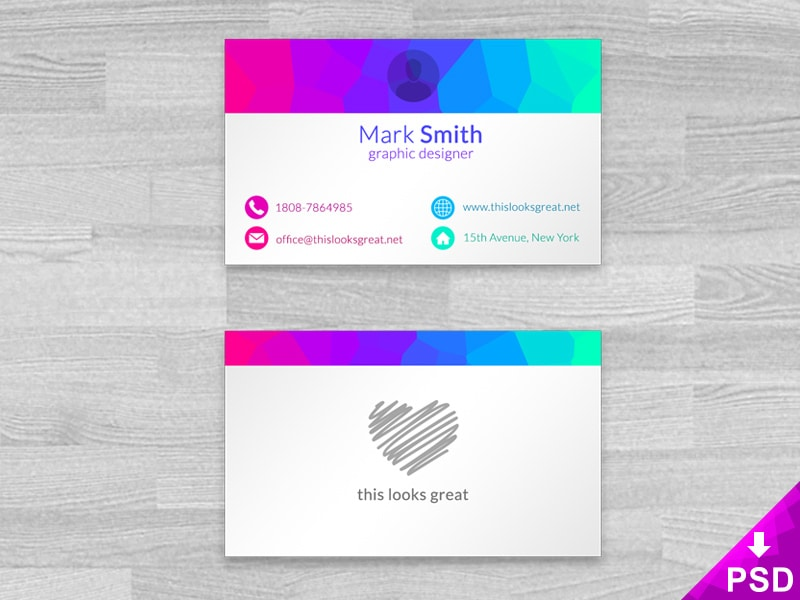 Colored Business Cards PSD