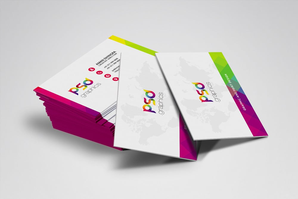 Colorful Business Card Template PSD