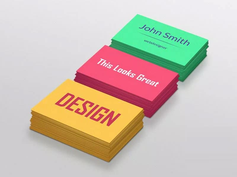 Colorful Business Cards PSD