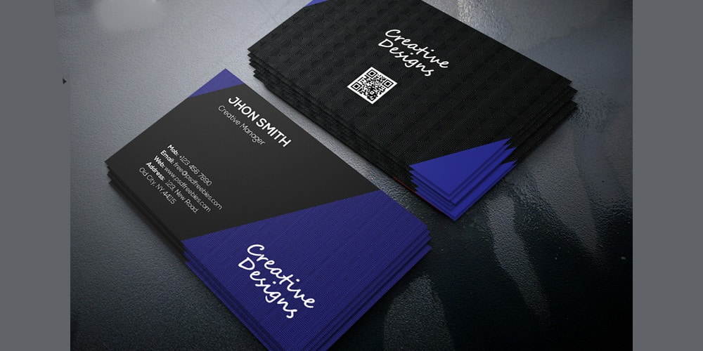 Creative Company Business Card Template PSD