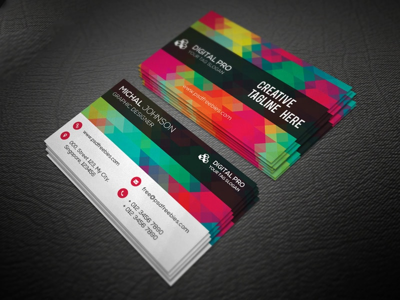 Creative Multicolor Business Card Template PSD