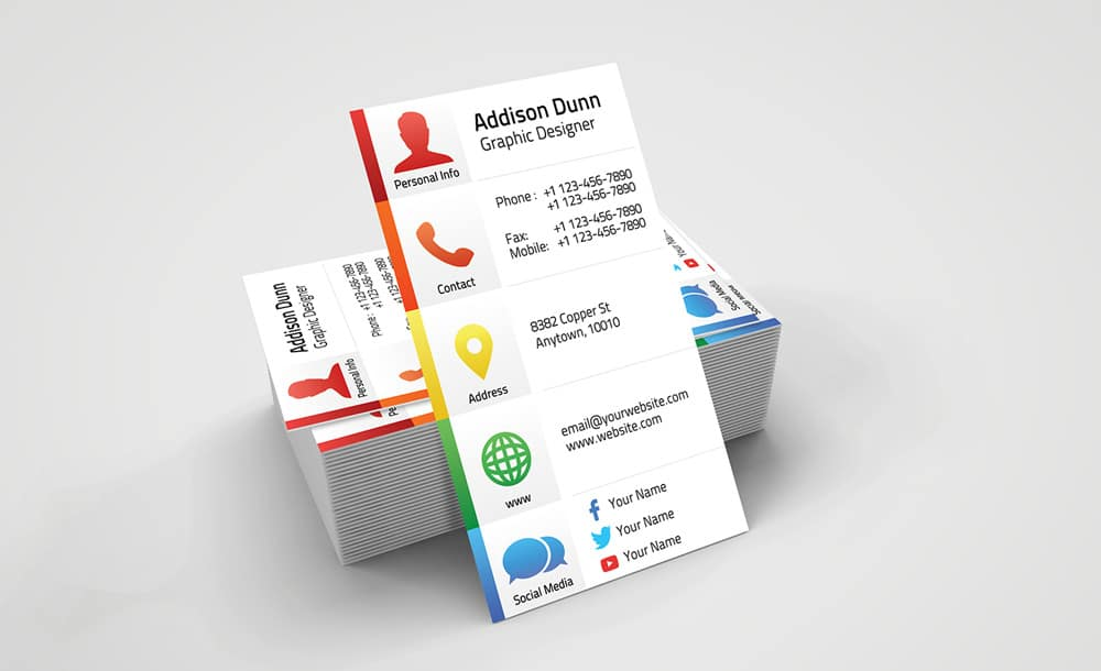 Creative Personal Business Card PSD