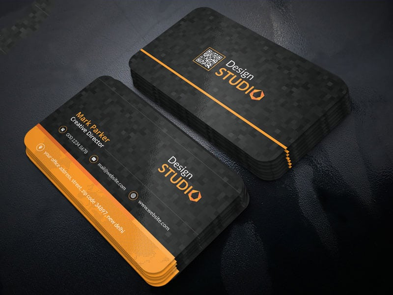 Creative Studio Business Card Template PSD