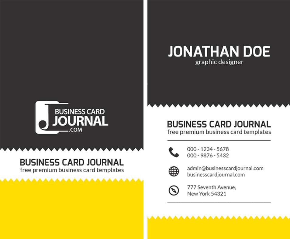 Creative Zigzag Design Business Card Template