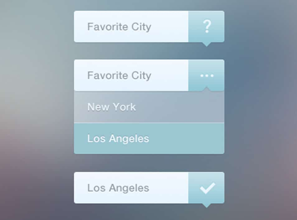 Elegant Dropdown Navigation PSD